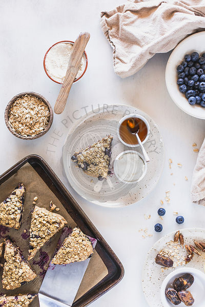 Spelt Flour Scones with Blueberries and Lemon