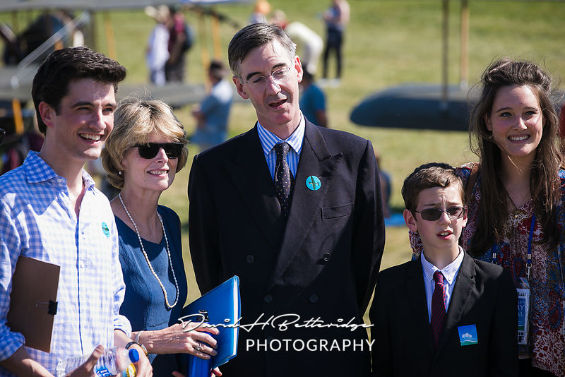 Conservative MP Jacob Rees Mogg visited the festival on Saturday to talk about Politics and History