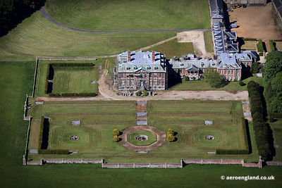 aerial photograph of Melton Constable Hall,  Norfolk England UK