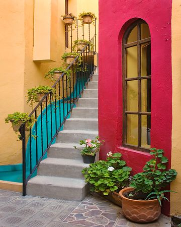Stairs and Colorful Walls