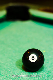 black billiard ball