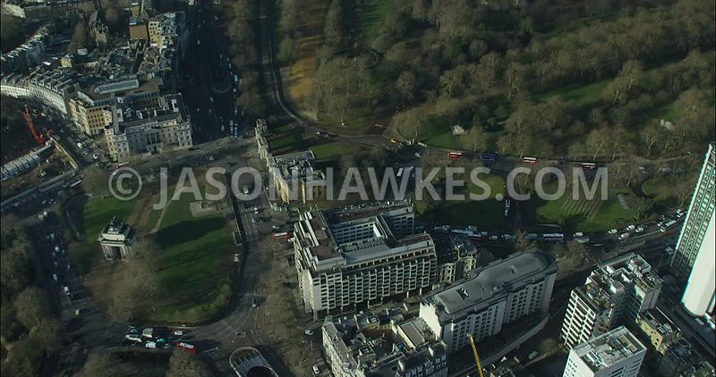 London Aerial footage, Hyde Park Corner
