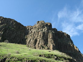 Columbia River cliffs