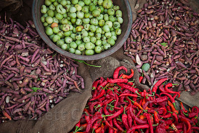 Vegetables for sale at a market in Jodhpur, Rajasthan, India