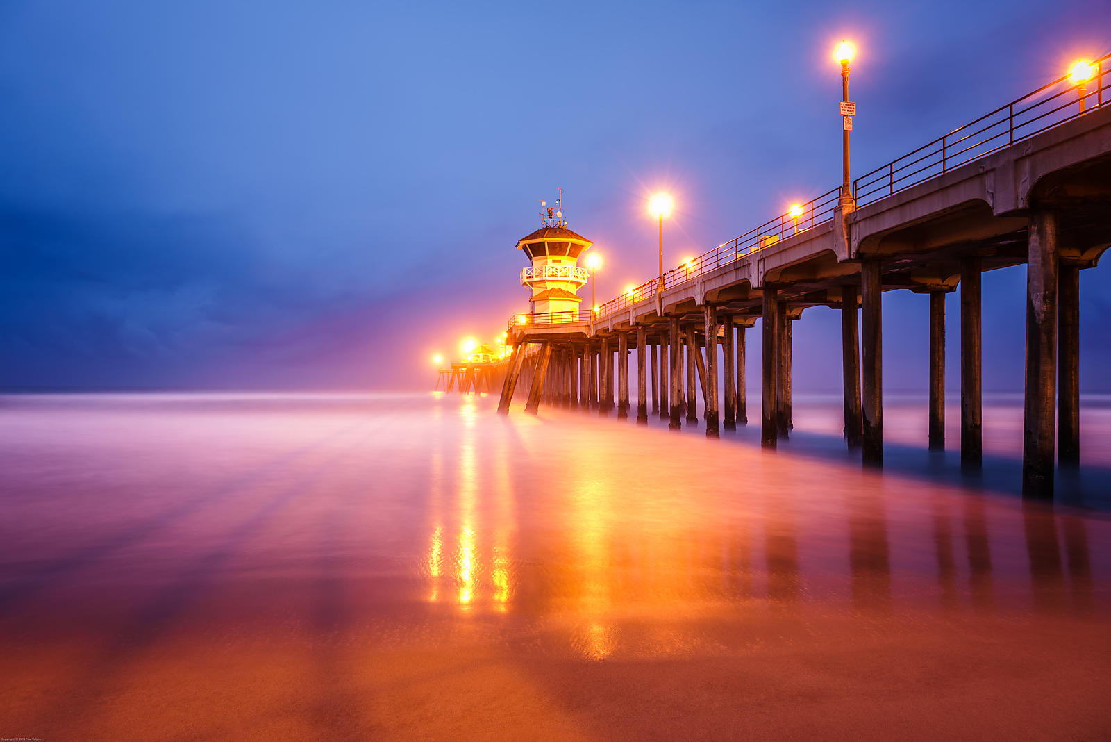 Huntington Beach Pier at Sunrise