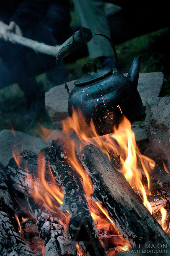 Kettle and campfire