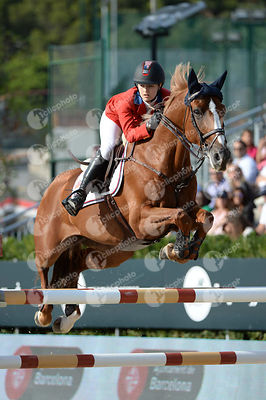 Lucy DAVIS ,(USA), BARRON during Longines Cup of the City of Barcelona competition at CSIO5* Barcelona at Real Club de Polo, Barcelona - Spain
