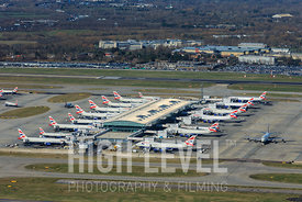 Aerial Photography Taken In and Around Hillingdon-British Airways A380