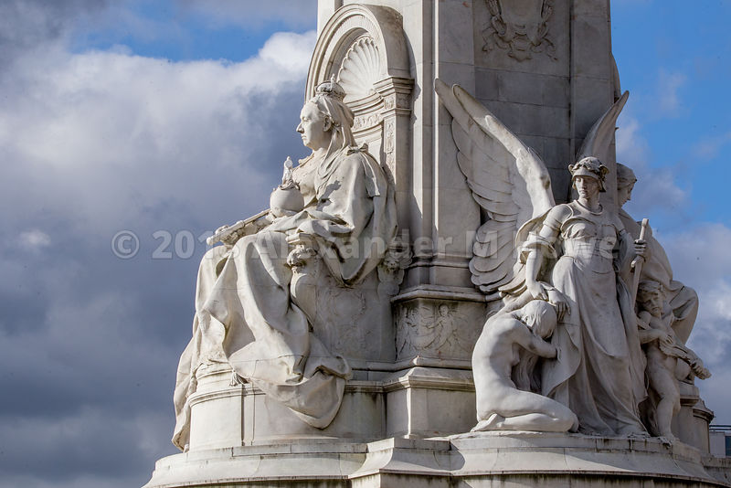 The Queen Victoria Memorial by Buckingham Palace