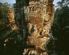 Bayon face tower