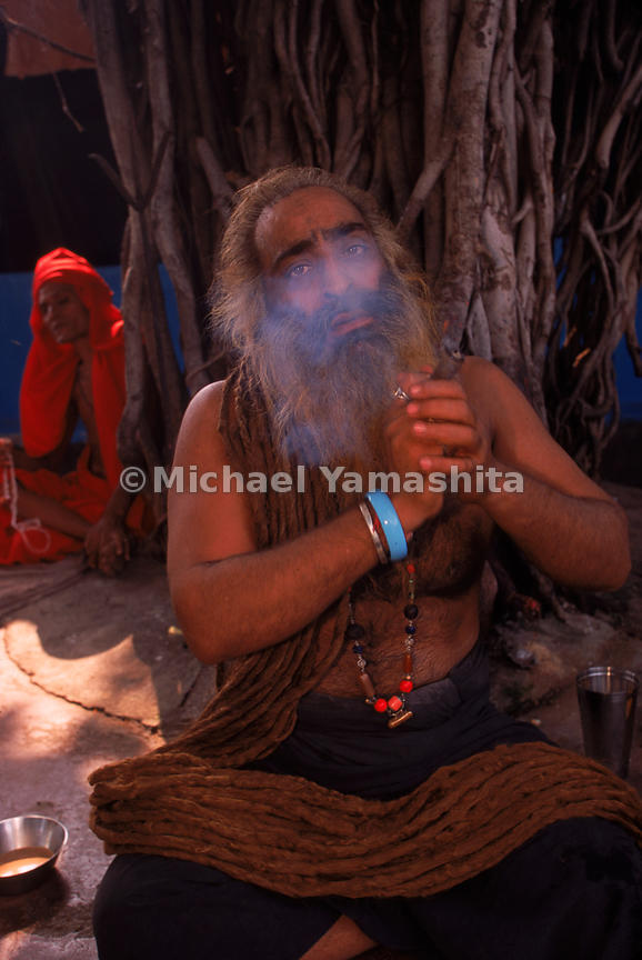 Sadhus in Mumbai achieving mystical states with the help of marijuana