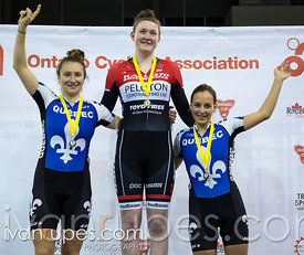 Junior Women Keirin Podium. 2016/2017 Track O-Cup #3/Eastern Track Challenge, Mattamy National Cycling Centre, Milton, On, February 11, 2017