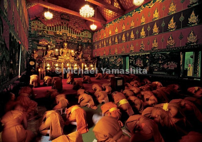 Monks of Wat Phanan Choeng dedicate their prayers to their god of prosperity, San Bao, as Zheng He is known here. He is also known by the names San Po ('three jewels') in Indonesia and Cheng Ho throughout southeast Asia.