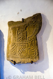 Disc-headed slab cross, 11th Century, Margam Stones Museum, Neath Port Talbot, South Wales, UK.