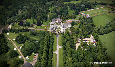aerial photograph of Coombe Abbey Warwickshire, England UK