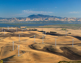 Windmills and Mt. Diablo #1