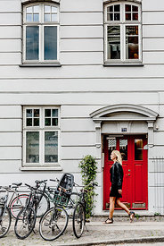 Woman walking in Copenhagen