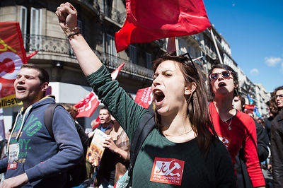 Labour day in Marseille - South France