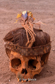 Mummified skull of a child
