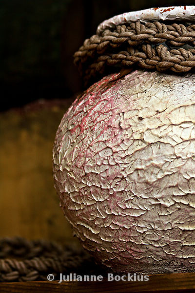 Pink Pot with Ropes