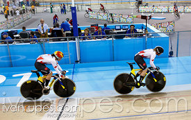 Women's Team Sprint Qualification, Track Day 1, Toronto 2015 Pan Am Games, Milton Pan Am/Parapan Am Velodrome, Milton, On; July 16, 2015