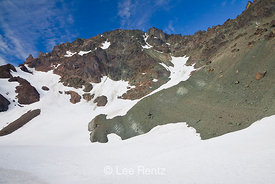 Snowfield in the Cirque of Royal Basin in Olympic National Park
