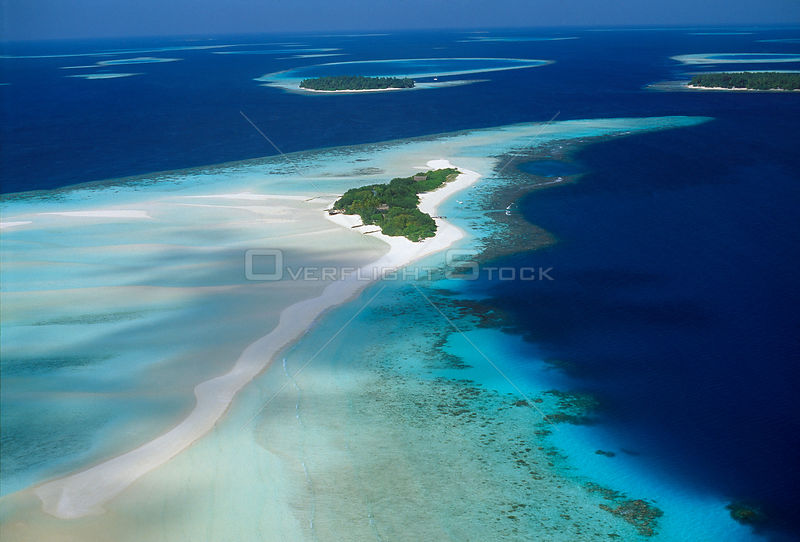 Aerial of South Male Atoll, Maldives