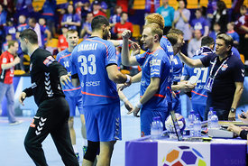 Players of Meshkov Brest during the Final Tournament - Final Four - SEHA - Gazprom league, Telekom Veszprém - Meshkov Brest in Brest, Belarus, 07.04.2017, Mandatory Credit ©SEHA/ Stanko Gruden