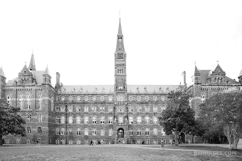 GEORGETOWN UNIVERSITY WASHINGTON DC BLACK AND WHITE