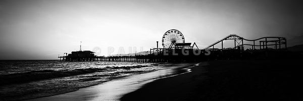 Santa Monica Pier Panorama Photo