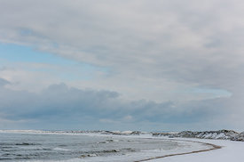 Snowy beach at Klitmøller 4