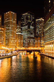 Chicago Illinois at Night