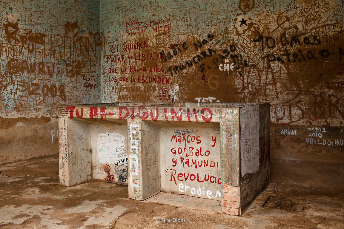 "The day after his execution on October 10, 1967, Ernesto ""Che"" Guevara's corpse was displayed to the world press in the laundry house of the Vallegrande hospital."