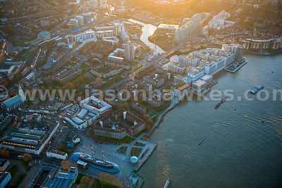 Aerial view of Greenwich, London