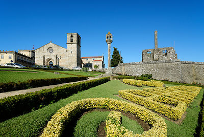 The 15th century palace of the Earl of Barcelos and the 13th century Motherchurch. Portugal