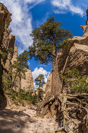 Hiking Slot Canyon Trail at Kasha-Katuwe Tent Rocks National Monument