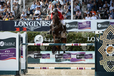 Federico FERNANDEZ ,(MEX), GURU during Longines Cup of the City of Barcelona competition at CSIO5* Barcelona at Real Club de Polo, Barcelona - Spain