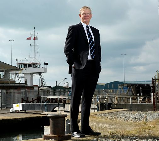 Business Portrait. Peter Davies, Development Director at Shoreham Port. Picture Liz Pearce. 2013
