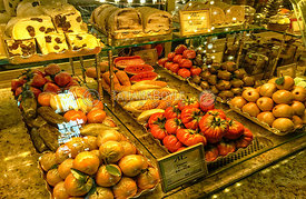 Section of confectionery display at Elisseeff's Emporium in St. Petersburg, Russian Federation