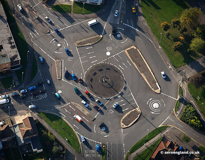aerial photograph of Swindon Magic Roundabout