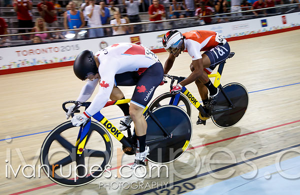 Men's Sprint Final. Track Day 3, Toronto 2015 Pan Am Games, Milton Pan Am/Parapan Am Velodrome, Milton, On; July 18, 2015
