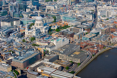 Blackfriars and St Paul's Cathedral, London