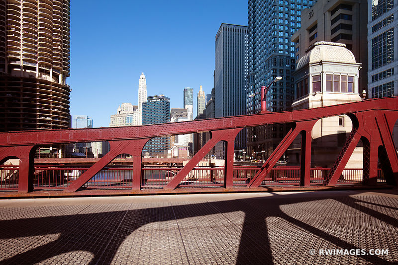 LA SALLE STREET BRIDGE DRAWBRIDGE CHICAGO ILLINOIS