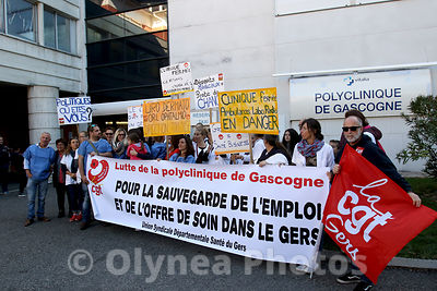 Demonstration against  ofpolyclinic closure