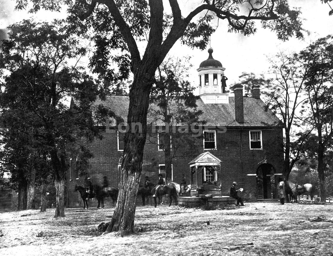 Union soldiers at Fairfax Court House, VA, in June 1863