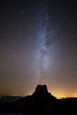 Lindisfarne Castle at night
