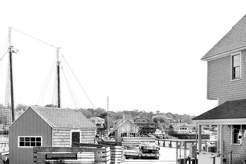 GLOUCESTER FISHING HARBOR CAPE ANN MASSACHUSETTS BLACK AND WHITE
