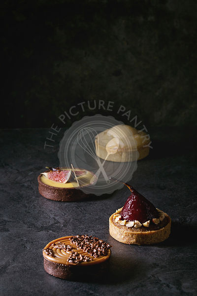 Variety of sweet tartlets