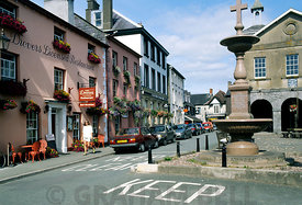 Llandovery town centre, Carmarthenshire, Mid Wales, UK.