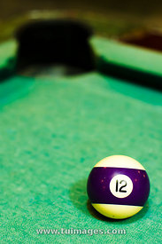 purple striped billiard ball